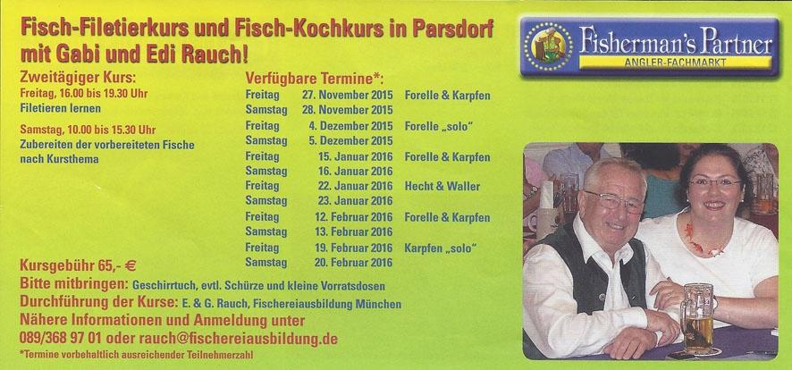 Fisch Filetier und Kochkurse bei Fishermans Partner 2015-2016